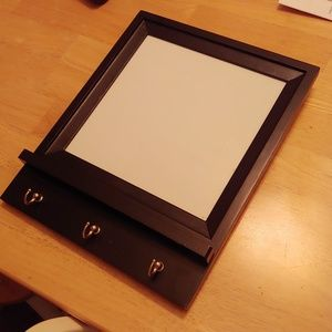 Magnetic Dry Erase Board with Hooks